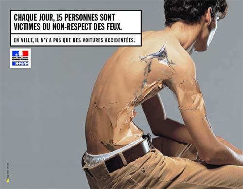 Affiche de prévention des dangers de la conduite en ville, France, 2002